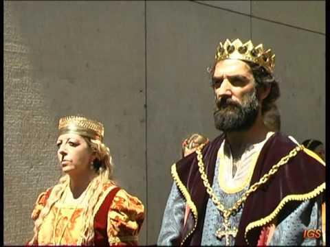 Mercado Medieval Zaragoza 2017 recreación de los Reyes Católicos