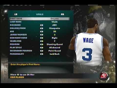 NBA 2K11 How To Create Dwyane Wade