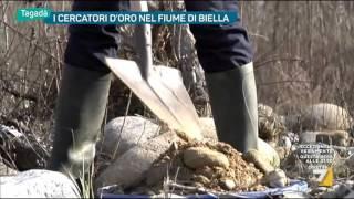 I cercatori d'oro nel fiume di Biella