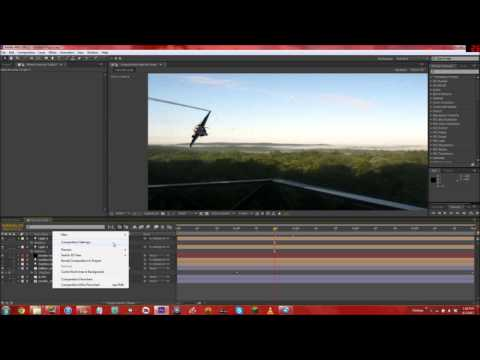 Jet Flyby, Day to Night, Smoke Trails, and Realistic Rain (Tutorial in After Effects CS6)