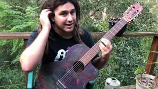 Easy Spanish Guitar Lesson- using power chords in the Spanish style to add dynamics!