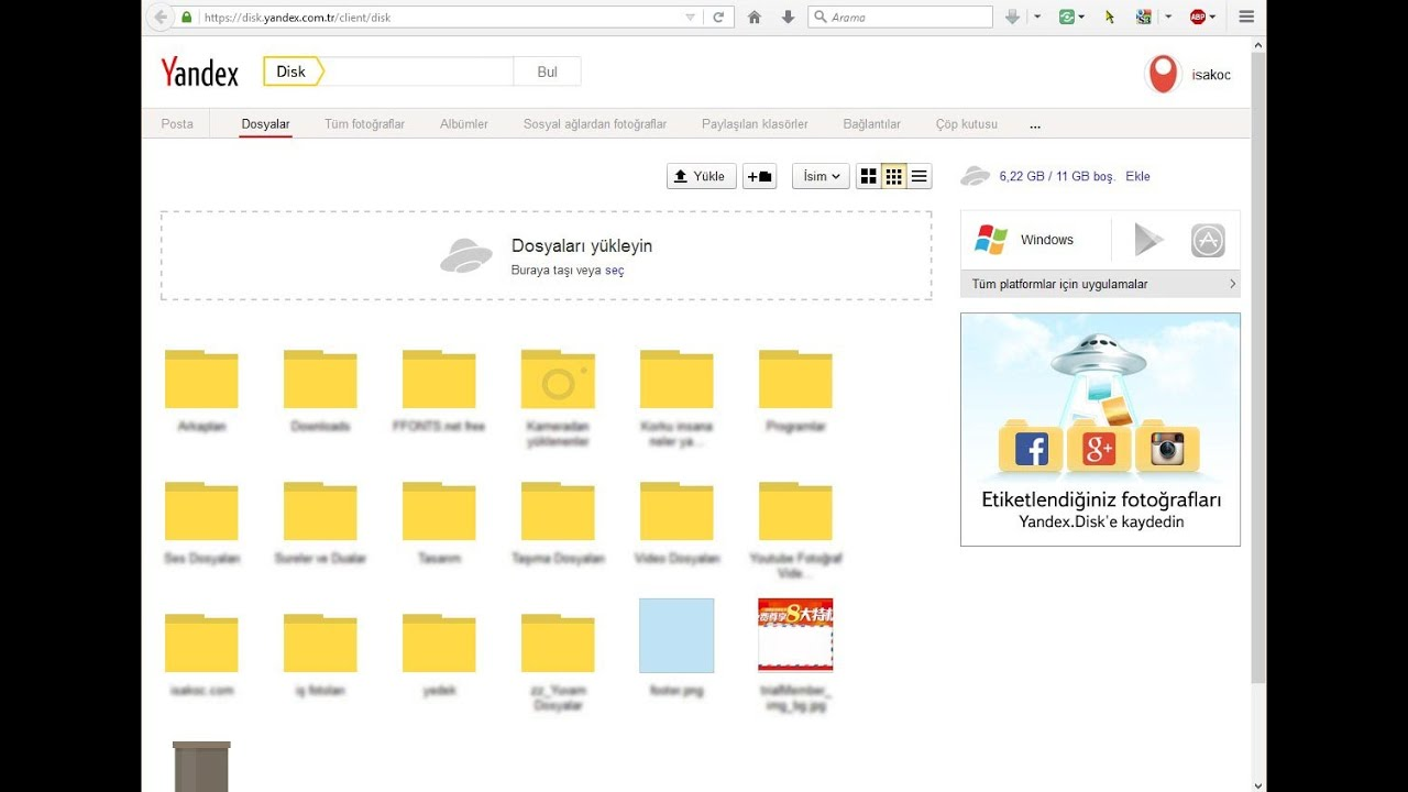 Yandex Disk Nedir?, Nasıl kullanılır?