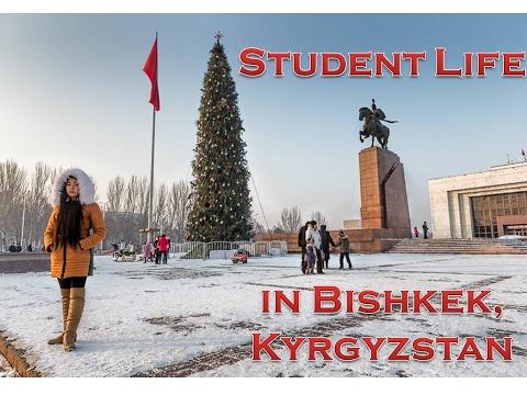 STUDENT LIFE IN BISHKEK,KYRGYZSTAN.(WINTER) жизнь в г.Бишкеке, Кыргызстан.