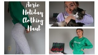 Aerie try on haul (HOLIDAY/ COMFY EDITION)