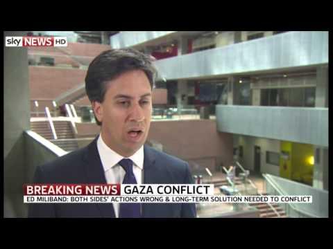 Miliband Slams Cameron Over Israel - 03/07/2014