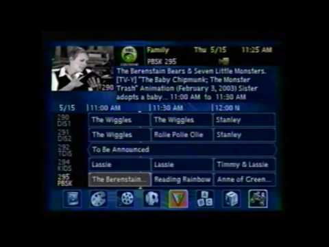 DirecTV channel guide clips from May 15, 2003