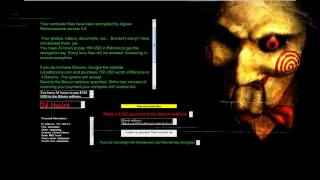 New Jigsaw 4.6 Ransomware - Doesn't encrypt files