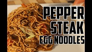 How To Make PEPPER STEAK & EGG NOODLES RECIPE BY  | Chef Ricardo Cooking