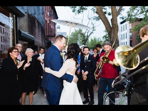 Wedding Second line through the streets of Brooklyn