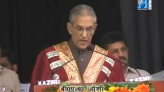 B L Joshi Governor Uttar Pradesh Inregral University Fourth Convocation 2012 Report By Mr Roomi Siddiqui Senior Reporter  ASIAN TV NEWS