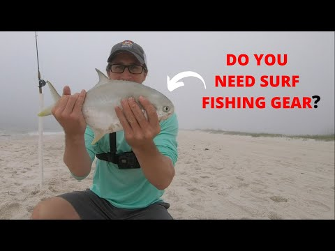 Surf Fishing Orange Beach, Alabama- Using ONLY Bass Gear!