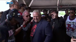 Premier Doug Ford booed by crowd at Raptors victory parade