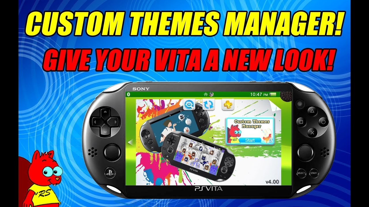CUSTOM THEMES MANAGER! GIVE YOUR VITA A NEW LOOK! PS Vita 3 68, 3 65, 3 60!