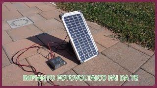 Come costruire un piccolo impianto fotovoltaico fai da te [Tutorial](Questo video spiega come costruire un impianto fotovoltaico da 5 w. I componenti che ho usato sono reperibili su internet : -Batteria da 4.5 Ah, 12 V, C20 ( 20 ..., 2016-08-27T20:24:53.000Z)