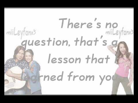 Miley & Billy Ray Cyrus - I Learned From You  [w/Lyrics] HQ