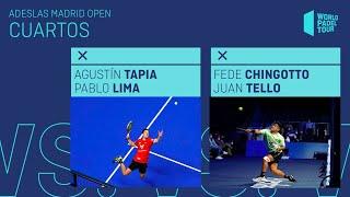 Resumen Cuartos de final Tapia/Lima Vs Chingotto/Tello Adeslas Madrid Open 2021