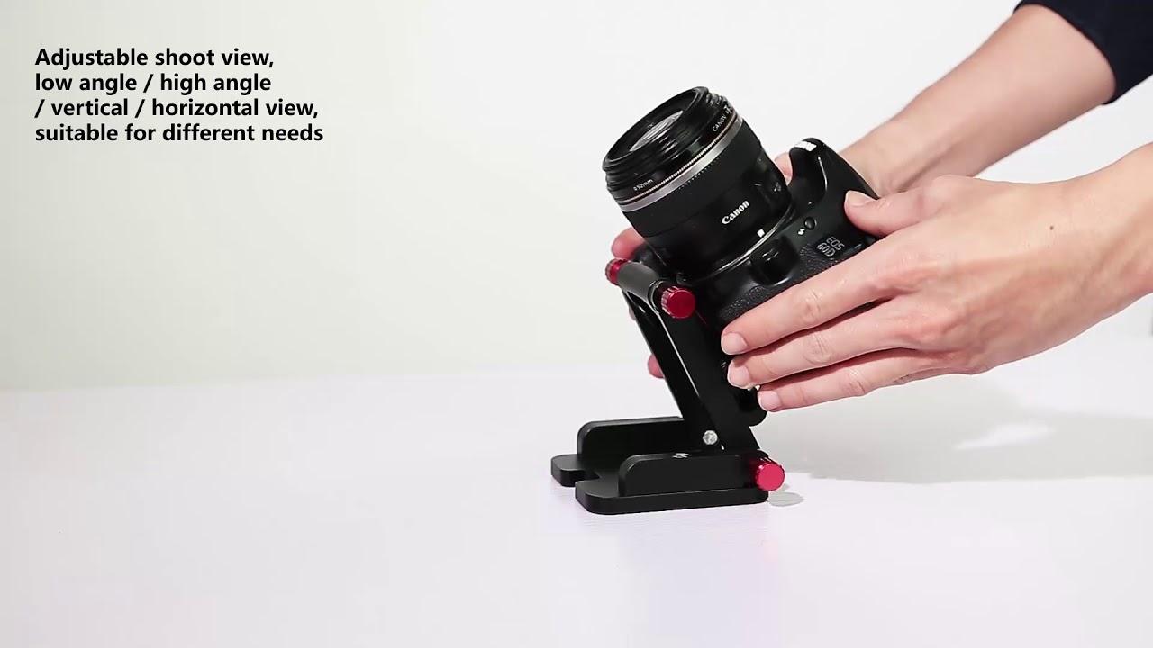 AS-ZDYT10 Koolertron Quick Release Plate Folding Z Flex Tilt Head Camera  Bracket