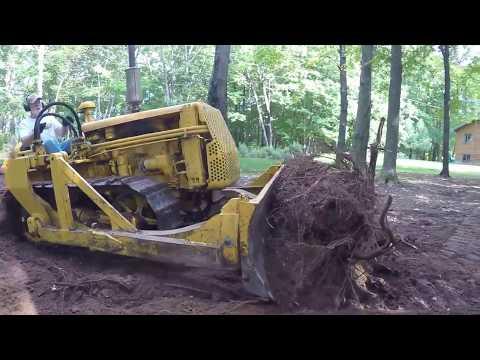 Caterpillar D2 Bulldozing Stumps