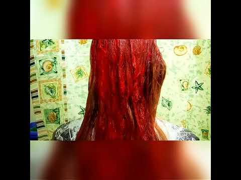"""Крашу волосы в красный цвет бальзамом Тоника в оттенке """"Индейское лето"""" 6.65"""