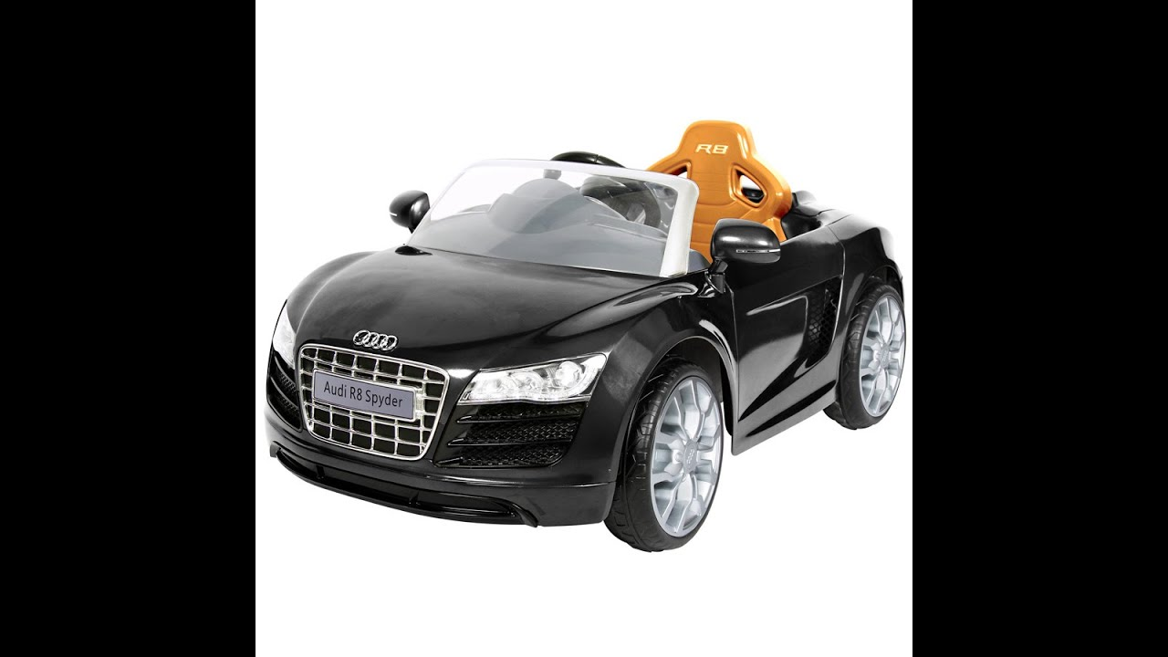 avigo audi r8 spyder 6 volt voiture jouet pour les enfants youtube. Black Bedroom Furniture Sets. Home Design Ideas