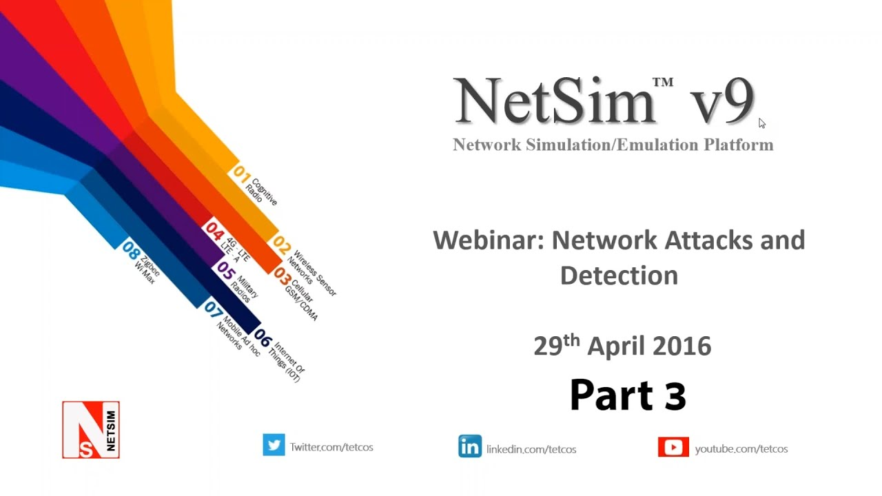 NetSim-Network Simulator & Emulator   MANET   Simulation of attacks  detection algorithms Part 3 of 3