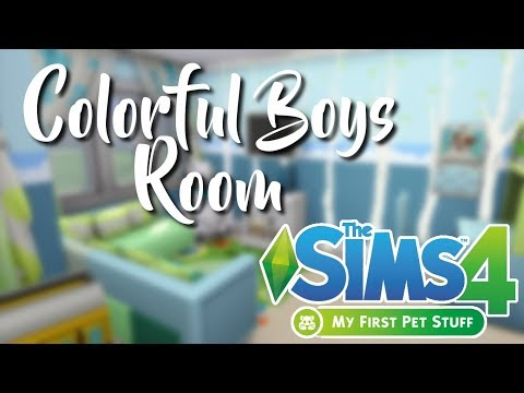 Colorful Boys Room || The Sims 4: My First Pet Stuff |