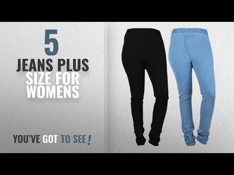 b7b21653e9a6a Top 10 Jeans Plus Size For Womens [2018]: Danbro Womens Denim Jeggings  (pack of 2) - YouTube