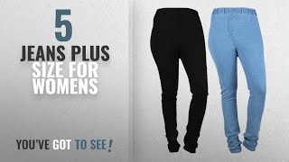 Top 10 Jeans Plus Size For Womens [2018]: Danbro Womens Denim Jeggings (pack of 2)