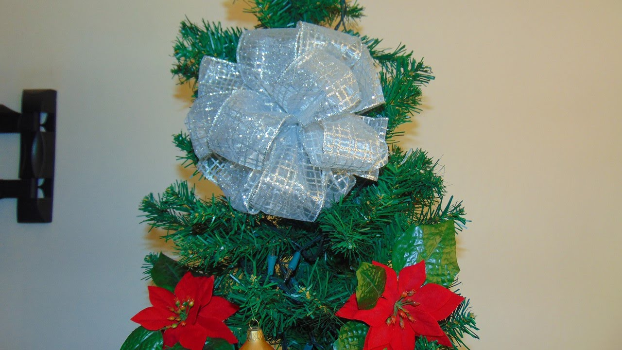 Mo o pom pom para el arbol de navidad muy f cil youtube - Lazos arbol navidad ...