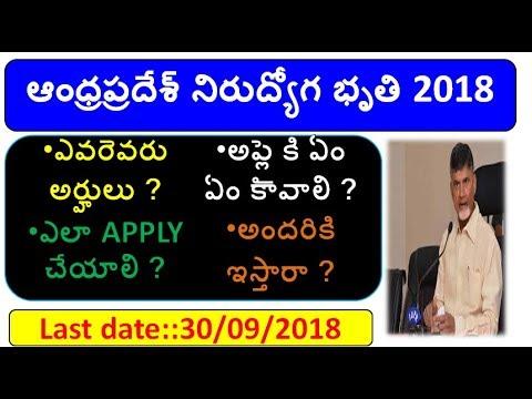 ap nirudyoga bruthi apply online process 2018 ap mukhyamantri yuva