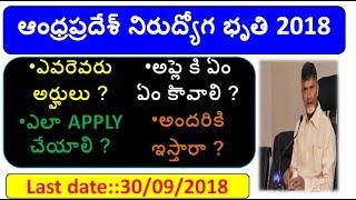 ap nirudyoga bruthi apply online PROCESS 2018||AP Mukhyamantri Yuva nestham Online Registration