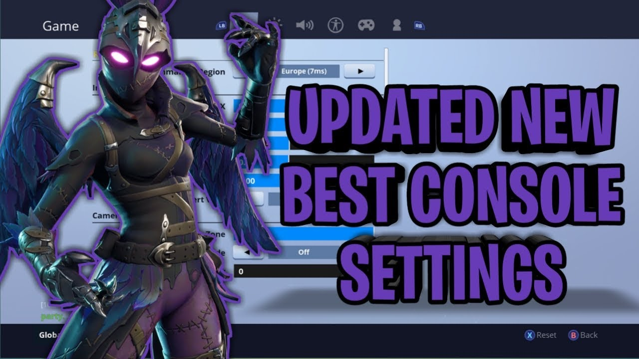UPDATED BEST FORTNITE CONSOLE SETTINGS AND SENSITIVITY XBOX/PS4 SEASON 6  *UPDATED* SETTINGS!!!!