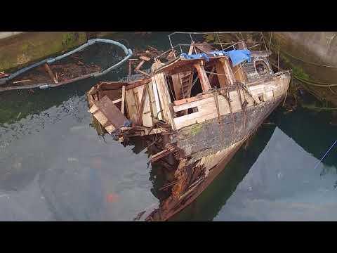 Regina Caelis, wreck removal, Portaferry, Co.Down, N.Ireland