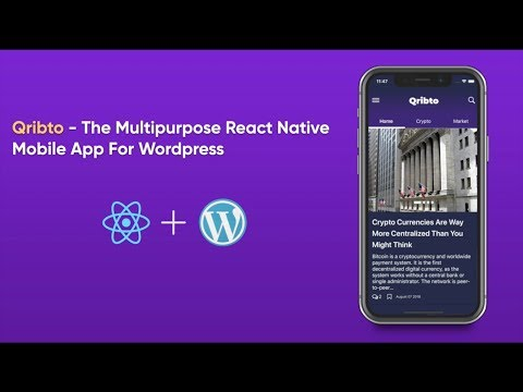 Demo v1.x: Qribto - The React Native App for the Crypto Currency News Site