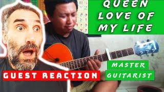 Download lagu QUEEN - Love of My Life (guitar solo cover) Alip ba ta - reaction