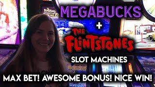 Yabba Dabba DOO! Awesome BONUS on Flinstones Slot Machine!