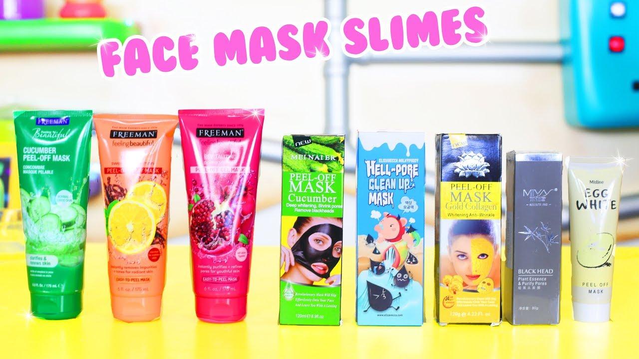 testing different peel off face masks for slime no glue slime