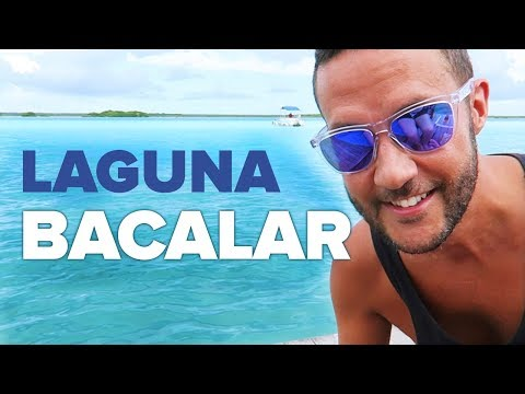 LAGUNA BACALAR. Lake of Seven Colors in Mexico.