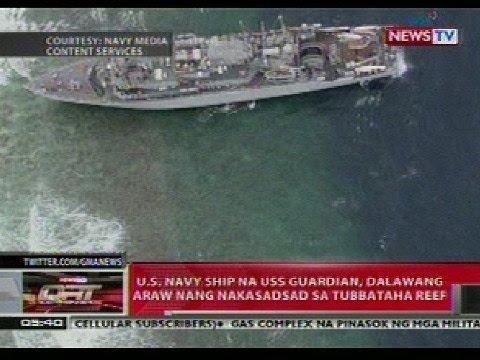 QRT: US Navy Ship, 2 araw nang nakasadsad sa Tubbataha Reef