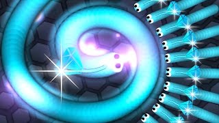 Slither.io Epic Diamond Snake Vs Slug Skin Hunting Giant Snake! (Slitherio Best Moments)