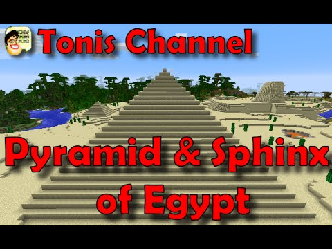 Minecraft wonders of the world Pyramid of Cheops and the Great Sphinx
