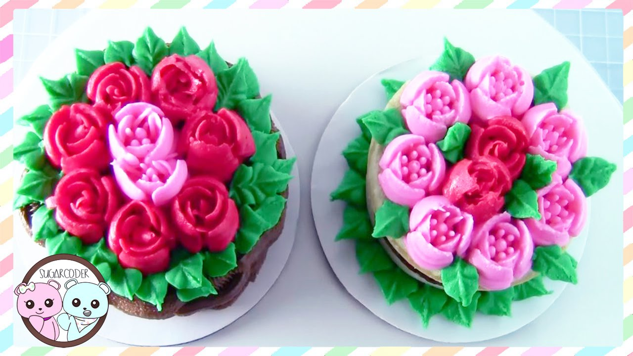 RUSSIAN PIPING TIPS: ROSE CAKE, TULIP CAKE - SUGARCODER ...