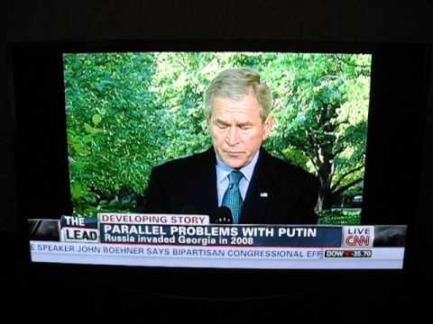 Obama/Bush responses to Russian President Putin's Ukraine/Georgia invasions