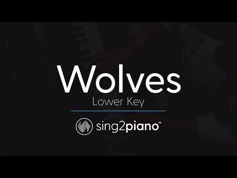 Wolves (LOWER Piano Karaoke) Selena Gomez & Marshmello