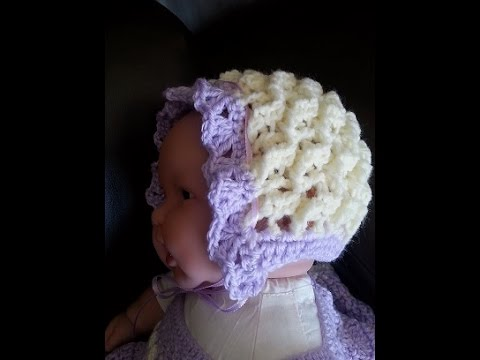 7f08f01a69e Crochet Precious Angel Bonnet Set DIY Tutorial - YouTube