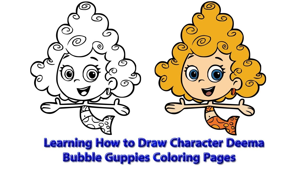 bubble guppies coloring page # 35