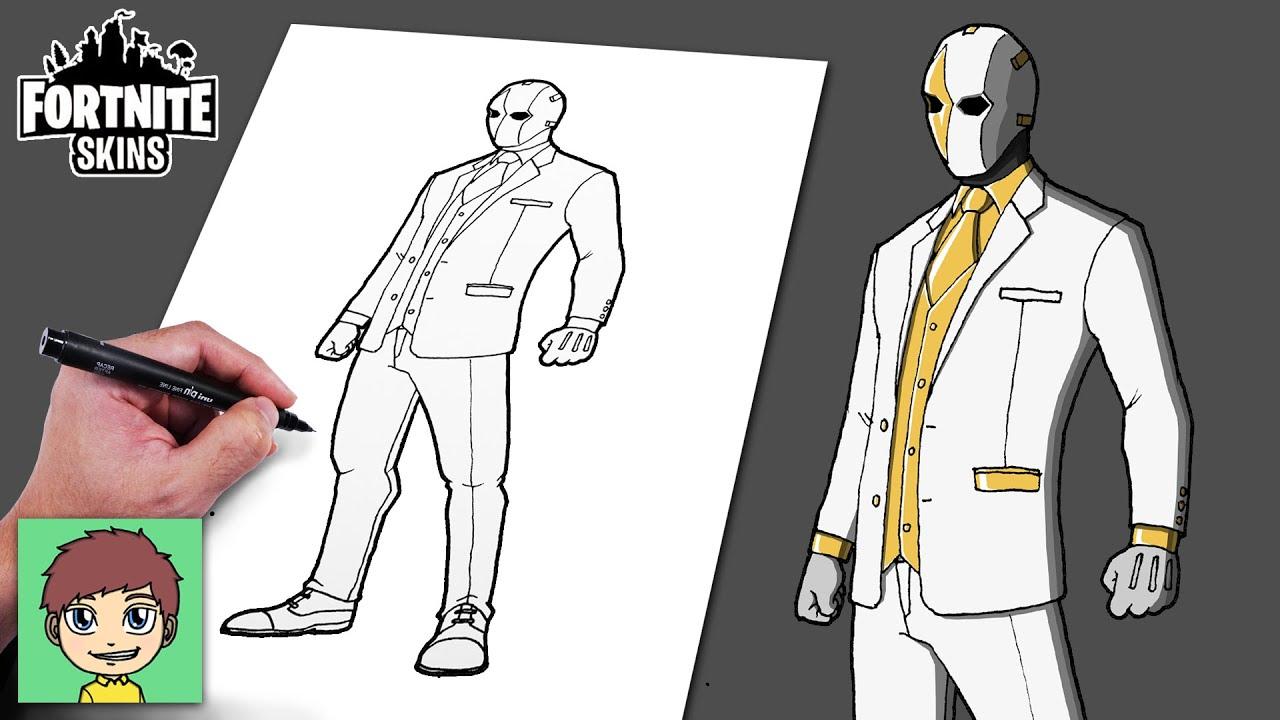 Como Desenhar Fortnite Ghost Wildcard Passo a Passo Facil – Desenho para desenhar