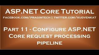Configure ASP NET Core request processing pipeline