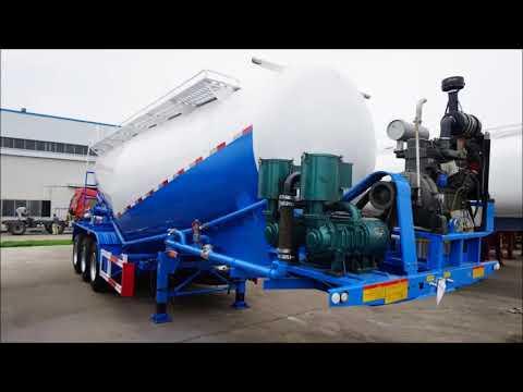 3 axles Bulk Cement Bulker Transporter Tank Tanker Semi Trailer For Sale