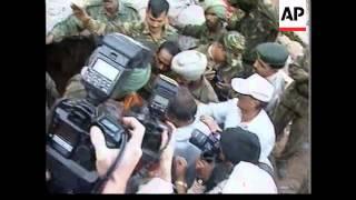 INDIA: BHUJ: EARTHQUAKE DISASTER: RESCUE EFFORTS (V)
